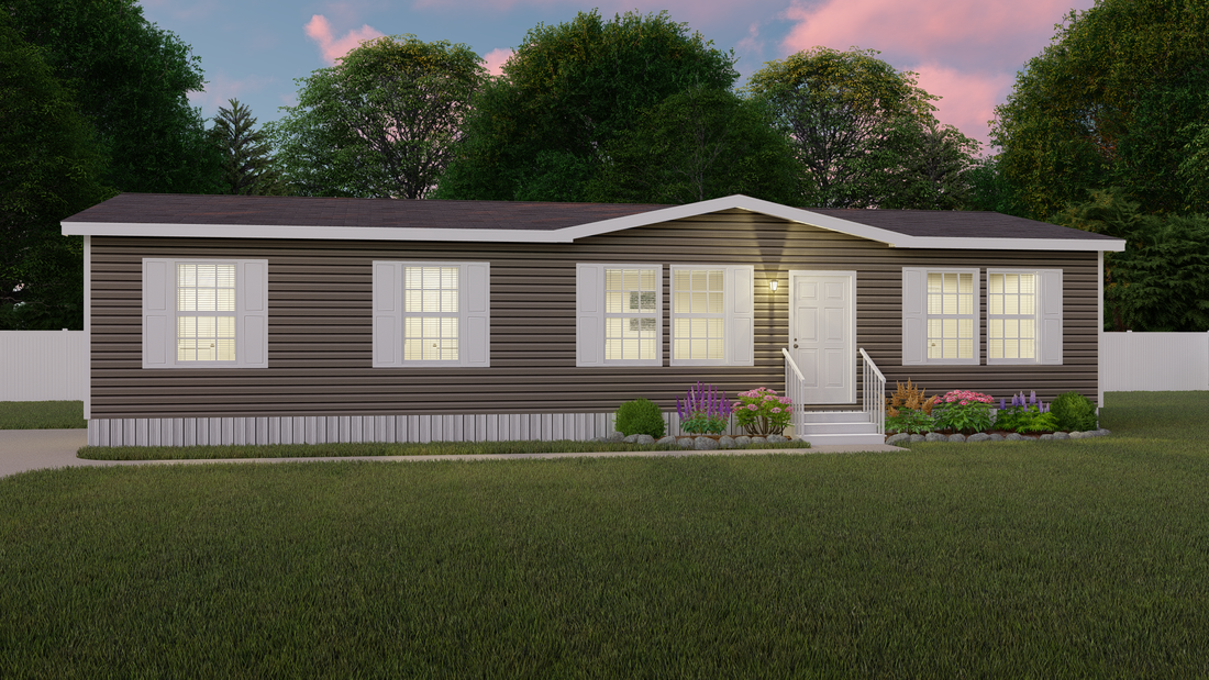 The PINEHURST Exterior. This Manufactured Mobile Home features 3 bedrooms and 2 baths.