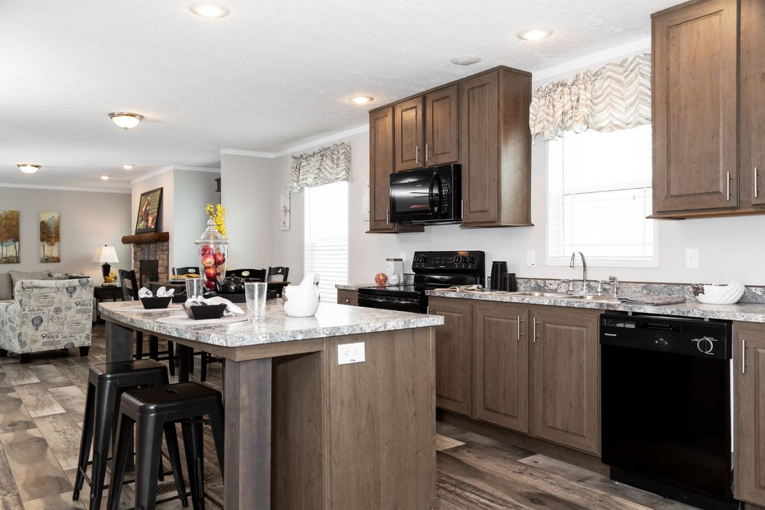 The DURANGO Kitchen. This Manufactured Mobile Home features 3 bedrooms and 2 baths.