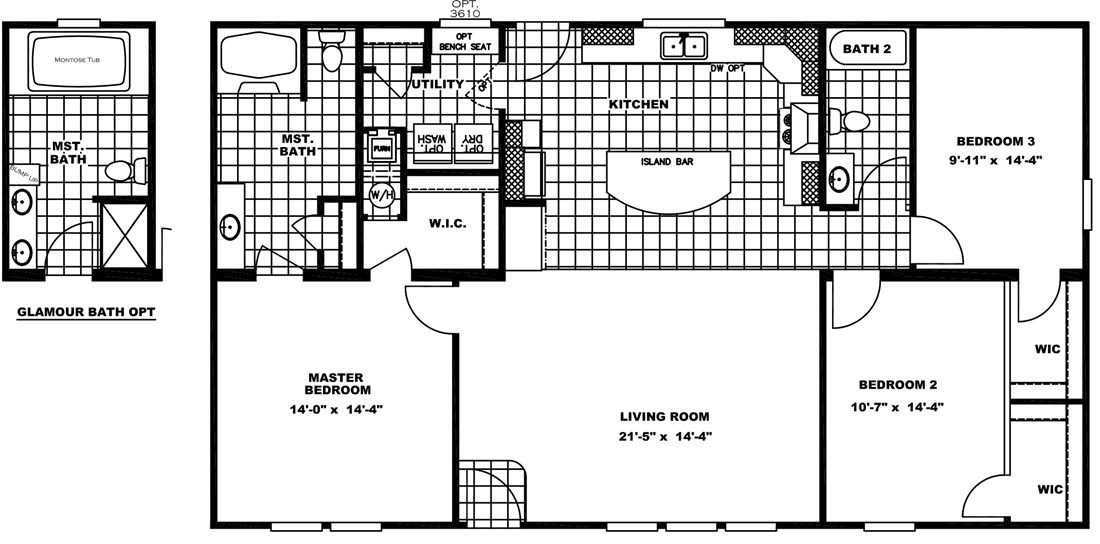 The PRAIRIE HOUSE Floor Plan