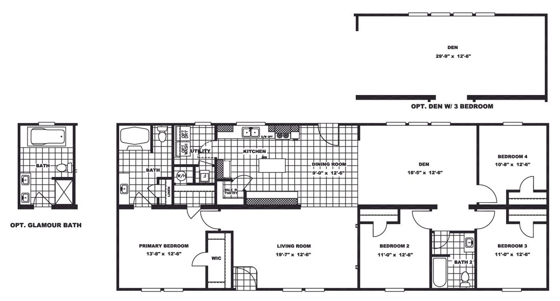 The SANTA FE 684A Floor Plan