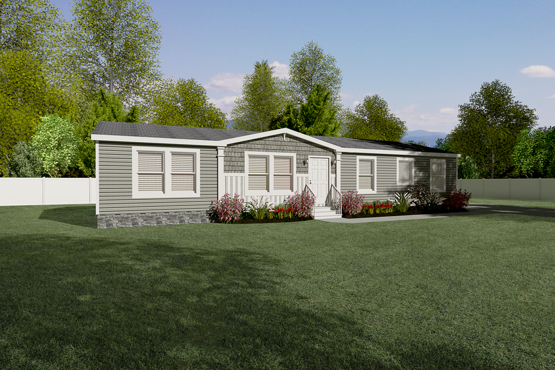 The THE ANNIVERSARY 2.1 Exterior. This Manufactured Mobile Home features 3 bedrooms and 2 baths.