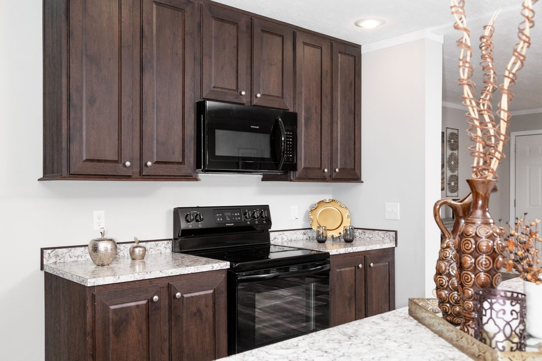 The TAHOE 3272A Kitchen. This Manufactured Mobile Home features 3 bedrooms and 2 baths.