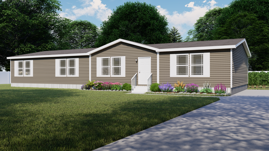 The TAHOE 3272A Exterior. This Manufactured Mobile Home features 3 bedrooms and 2 baths.