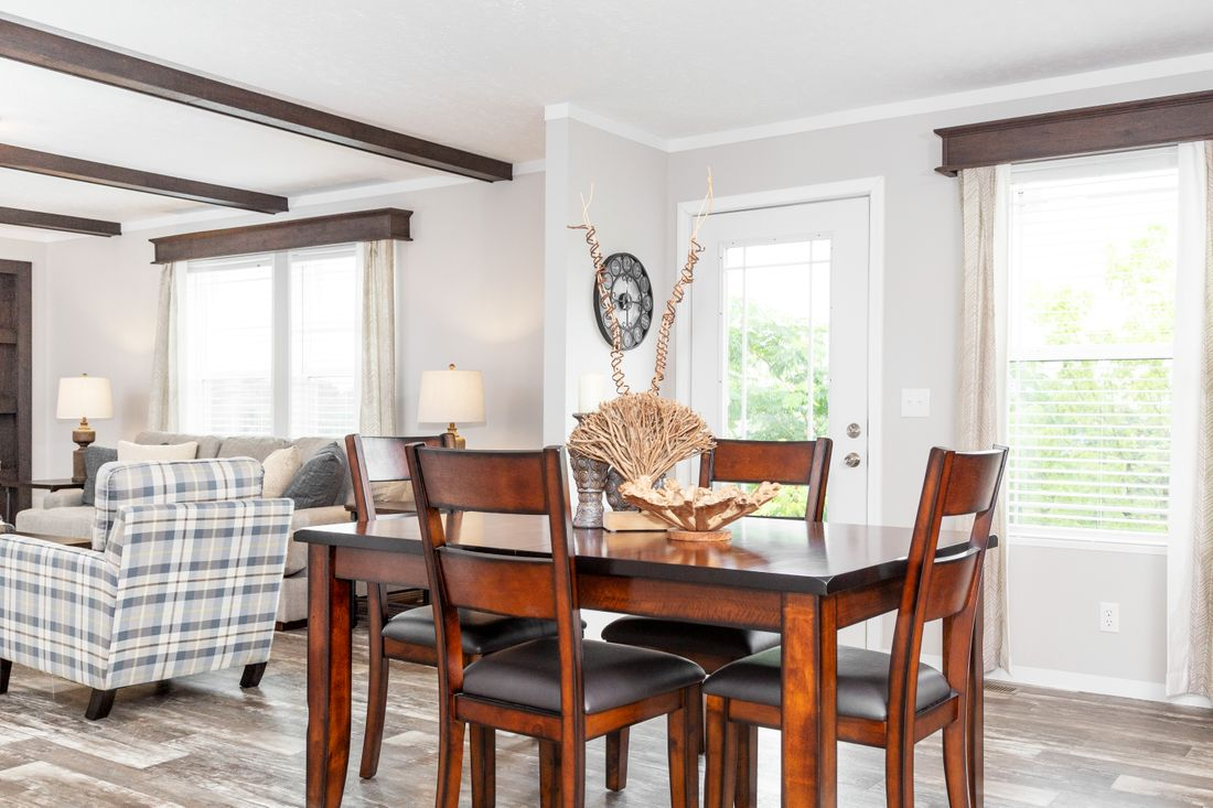The TAHOE 3272A Dining Area. This Manufactured Mobile Home features 3 bedrooms and 2 baths.