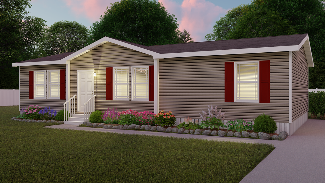 The SUNDANCE 48B Exterior. This Manufactured Mobile Home features 3 bedrooms and 2 baths.