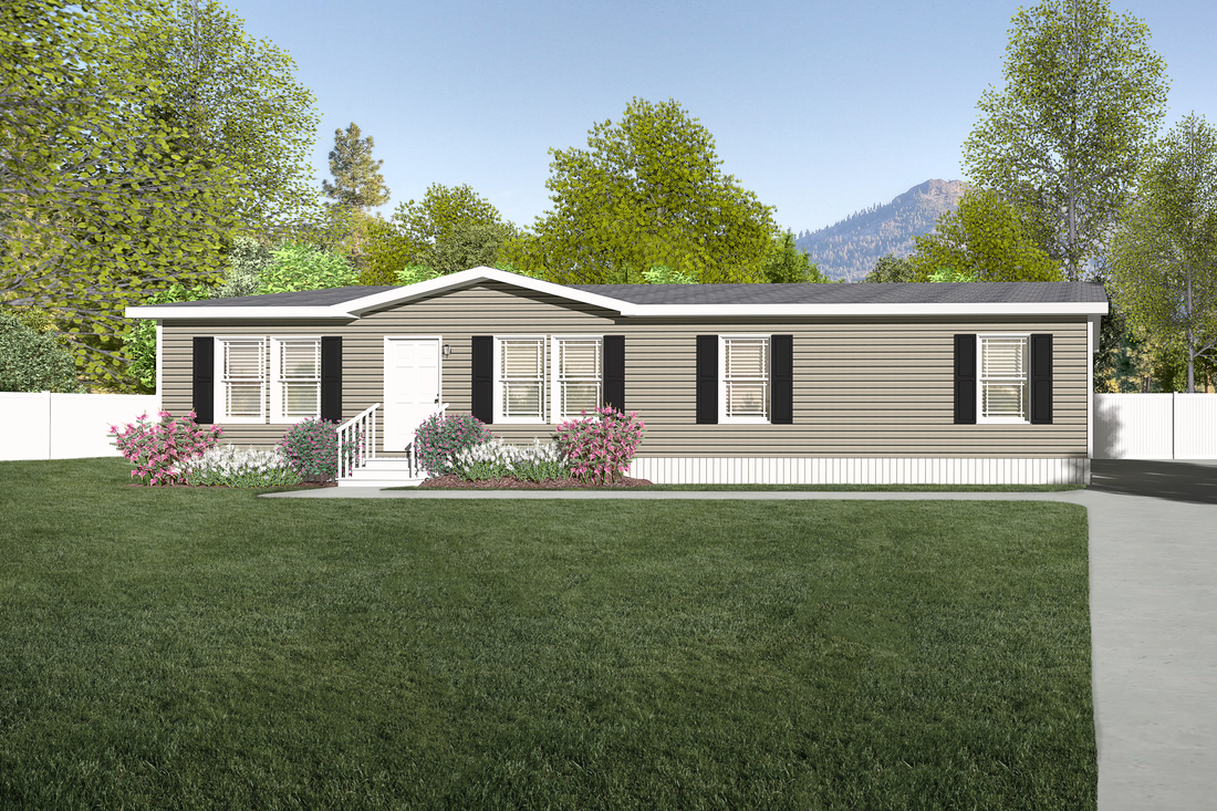 The CLASSIC 56G Exterior. This Manufactured Mobile Home features 3 bedrooms and 2 baths.