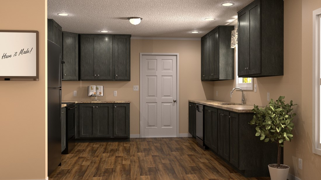 The CLASSIC 56G Kitchen. This Manufactured Mobile Home features 3 bedrooms and 2 baths.