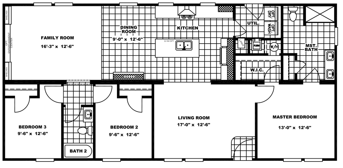 The CLASSIC 56D Floor Plan