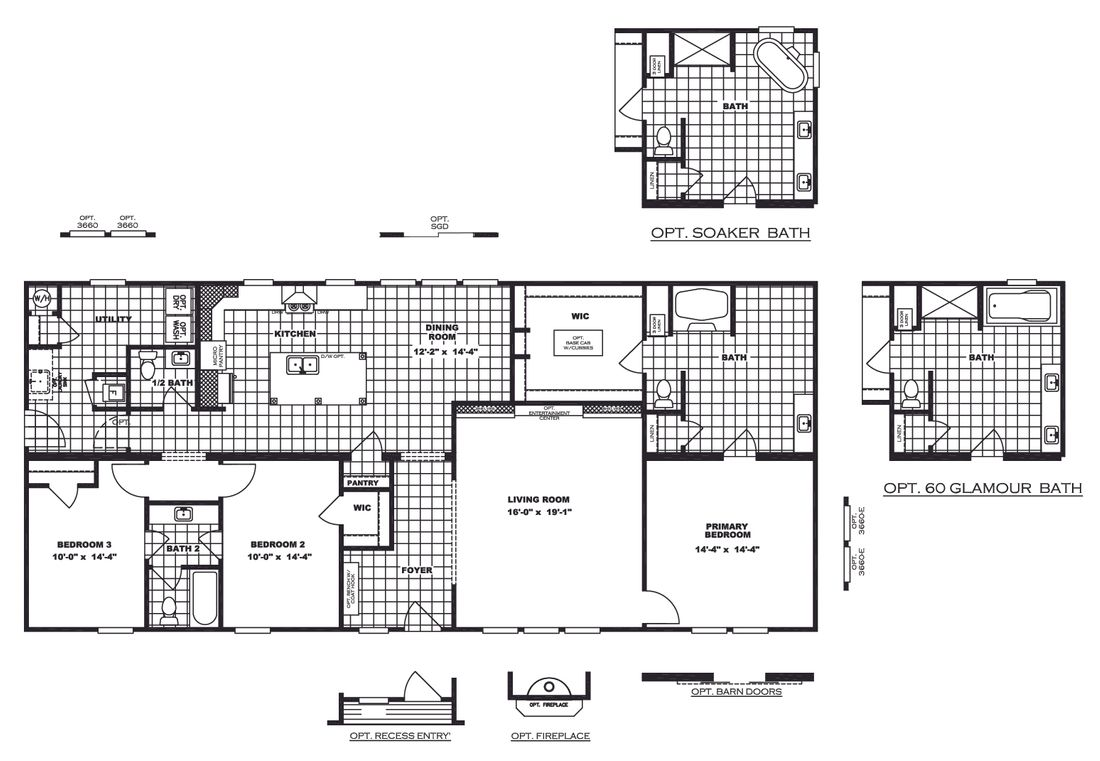 The COUNTRY AIRE Floor Plan